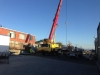Placing concrete walls in carpark