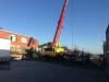 Placing concrete walls in carpark