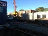 Wall going up between fitting bay and customer carpark